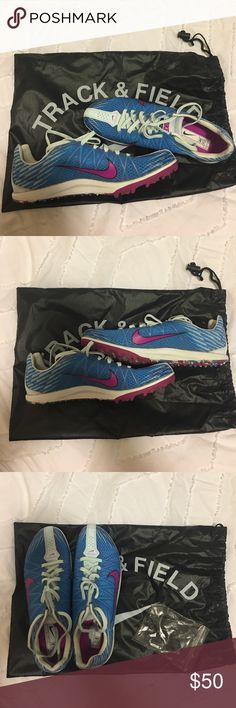 """Nike running spikes """"Jana Star XC"""" Blue and purple Nike spikes for cross country/track. I only wore these one time so they are in good condition. Note that these are a 10 and I typically wear a 9, so they run small. Nike Shoes Athletic Shoes"""