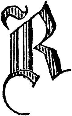 image of the letter r | Decorative Letter R | ClipArt ETC
