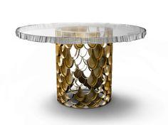 Tavolo da pranzo rotondo in marmo KOI by BRABBU