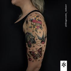 Photo by (thiagocastro_tattooer) on Instagram Colorful Tattoos, First Tattoo, Color Tattoo, Tattoo Designs, Skull, Beautiful, Instagram, Color Tattoos, Tattooed Guys