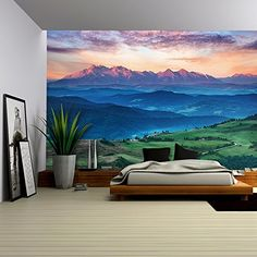 wall26 - Summer Mountain Landscape in Slovakia - Removabl...
