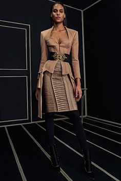 Ready-To-Wear Collection via Designer Olivier Rousteing | Modeled by Cindy Bruna | January 25, 2016; New York