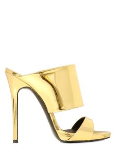 GIUSEPPE ZANOTTI - 120MM MIRROR LEATHER MULE SANDALS - LUISAVIAROMA - LUXURY SHOPPING WORLDWIDE SHIPPING - FLORENCE