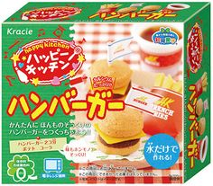 Cheese Burger Japanese candy kit by kracie...the soda fizzes!