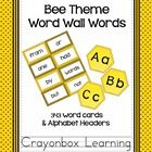 A wonderful addition to the bee theme classroom, these word wall cards are something to buzz about!  Featuring 300 High Frequency Words (Fry), and ...