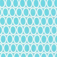 Ann Kelle - Remix - Ovals in Aqua: Loving these new prints from Ann Kelle!!