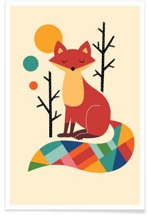 Rainbow Fox - Andy Westface - Premium Poster