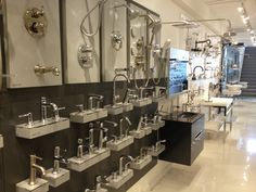 Hansgrohe Display at our new showroom in the Miami Design District. 3612 NE 2nd Avenue.
