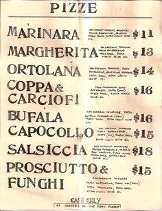 cartel menu