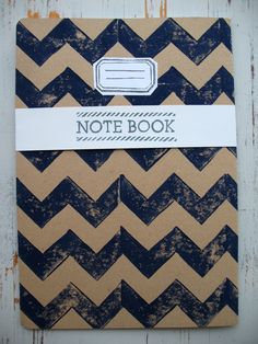 Handmade Notebook – dark blue print