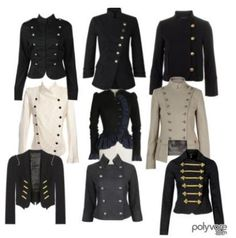 military style jackets for women