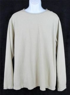 TERRITORY AHEAD Khaki Waffle Weave COTTON Sweater Shirt Mens EXTRA LARGE XL