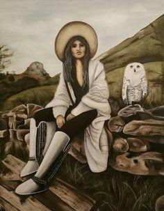 Oil painting 100x130cm, author: Lucie Přikrylová