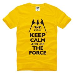 Keep Calm The Force T-shirt Star Wars merchandise http://funstarwars.com/shop/star-wars-t-shirts/keep-calm-force-t-shirt/ 20.05 This short-sleeve Keep Calm The Force T-shirt features a comfortable crew neck and quality construction, making it the perfect graphic tee gift for both men and women. The soft fabric looks as good as it feels, and this tee is durable for everyday wear. Our cute, funny, and unique designs are printed professionally, and make great novelty gifts for him or her, young…