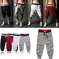 Men Sports Pants Harem Training Dance Baggy Jogger Casual Trousers Shorts Slacks   eBay
