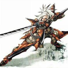 Rathalos armor katana