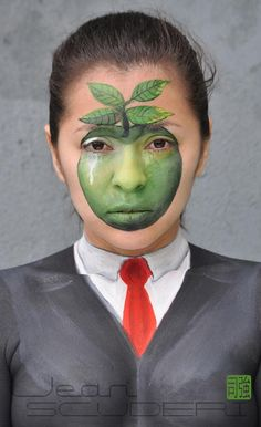 peintures sur visage de Jean Scuderi, le maquillage artistique et militant