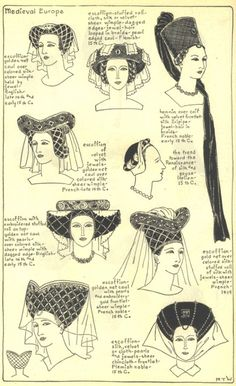 Hat / Hairstyles of Medieval or Gothic Europe