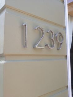 How To Make Your Own MidCentury Modern House Numbers Diy house
