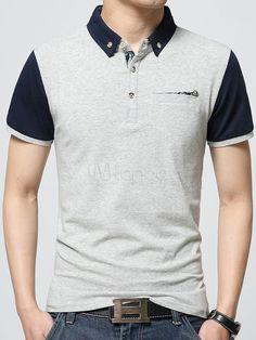 e473734193 Camisa Polo blanca camisa de Polo de algodón Chic para hombres