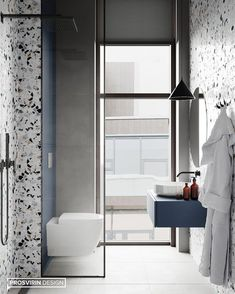 Ideas For Exterior Design House Bathroom Modern Bathroom Design, Bathroom Interior Design, Apartment Interior, Living Room Interior, Office Interior Design, Exterior Design, Design Furniture, Bathroom Inspiration, Small Bathroom