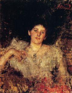 The Athenaeum - Portrait of a Lady (Antonio Mancini - )