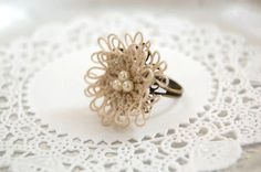 tatting lace ring