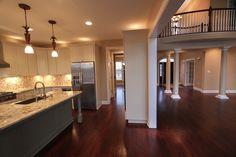 Kitchen, Family Room, Granite Top, Custom Lighting, Open Floor Plan