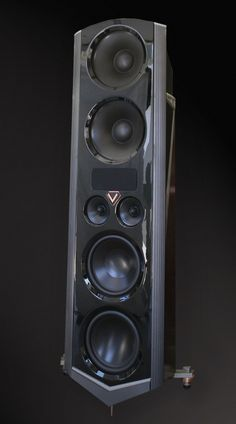 Legacy V Speaker in high gloss black with rosewood and aluminum trim