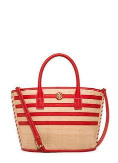 For Mother's Day: The Tory Burch Stripe Straw Mini Tote