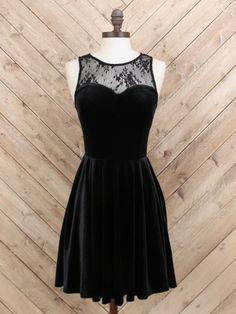 Altar'd State Velveteen Sweetheart Dress
