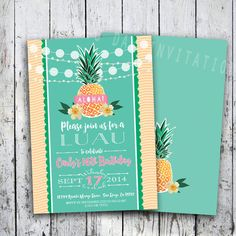 Luau Invitation Birthday Party - DIGITAL or PRINTED, Can be for Bridal shower, Baby shower, Retirement, engagement Party, surprise party,etc