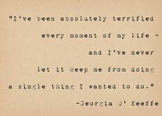 Inspirational Life Quote - Georgia O Keeffe Quote - Art Quote Print - Feminist Inspiration Art Print