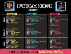 Programación completa de Lollapalooza 2014