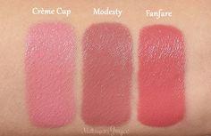 MAC Modesty Crème Cup Fanfare Lipstick Swatch
