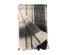 Plaid en lana de oveja y fibras sintéticas Black - 130x170 cm