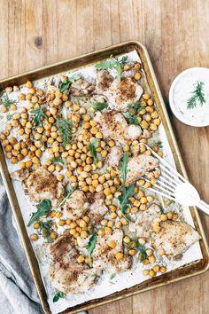 Weeknight Roasted Chicken Pita Wraps with Crispy Chickpeas and Tzatziki