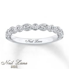 Neil Lane Bridal Ring 1/10 ct tw Diamonds 14K White Gold