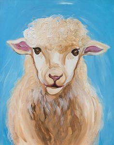 Sheep Paint And Sip, Sheep, Moose Art, Paintings, Animals, Animales, Paint, Animaux, Painting Art