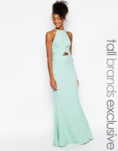9e5618190029 Jarlo Tall Elenora Cut Out Halter Neck Maxi Dress - Blue - ShopStyle Evening