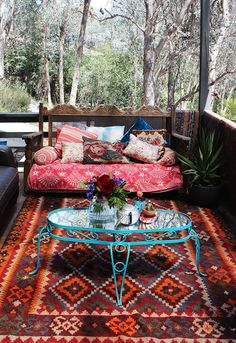 Eclectic Deck. Go Boho on the balcony