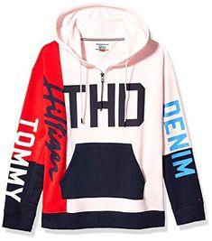 Tommy Hilfiger Women's Adaptive Hoodie Sweatshirt with a Velcro Brand Closure