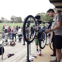 The Good Cycles team attended the Ride2School day at this lucky Melbourne primary school to provide free tune-ups on the kids bikes. Nice one.