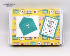 Schneckenpost Geschenkschachtel – mit Produkten von Stampin' Up! Community Boards, Stampin Up, Projects, Paper, Snails, Postage Stamps, Valentines Day, Packaging, Cards