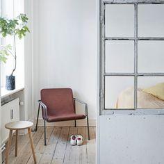 a Stool & a lounge Chair 'NewBestFriend' Circular Economy, Stool, Chair, Scandinavian Living, Danish Design, Ladder Decor, Furniture Design, Lounge, Traditional