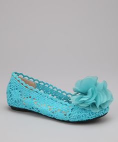 Look at this #zulilyfind! Marilyn Moda Blue Lindora Flat by Marilyn Moda #zulilyfinds