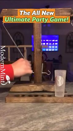 Wood Projects, Woodworking Projects, Projects To Try, Beer Bottle Chandelier, Fun Drinking Games, Depth Perception, Bar Games, Ring Toss, Homemade Tools