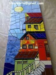 Imagen relacionada Mosaic Tile Art, Mosaic Artwork, Mosaic Glass, Stained Glass Designs, Mosaic Designs, Mosaic Patterns, Mosaic Art Projects, Mosaic Crafts, Mosaic Pieces