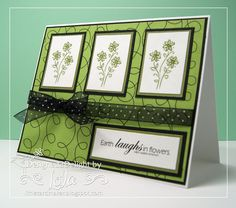 card+making   The flowers have been printed out in green–click on the photo for a ...
