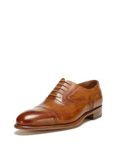 Cap Toe Oxfords by Santos by Carlos Santos at Gilt